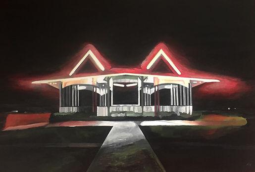 SAMIR HAMAIEL- In Suburbia, 2018, painting