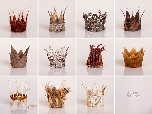 KATRIN TERTON - This too shall pass, 2018, small sculptures, crowns
