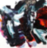 Jude Hotchkiss ~ Stormfield ~ oli and medium on canvas ~ 122 x 122 x4cm ~ 2017
