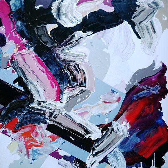 Jude Hotchkiss ~ Cloudfield ~ oli and medium on canvas ~ 122 x 122 x4cm ~ 2016
