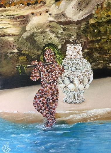 Anitha Menon, The Music of Praia (2017), oil on canvas, 30.48 x 40.64