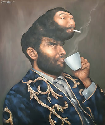 Noriko Sugita - Coffee and Cigarette, 2018, painting
