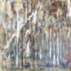 Lucila Zentner | flooding at the Rivergums | 102 x 102 | oil on canvas | 2016