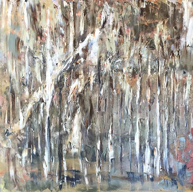 Lucila Zentner | flooding at the Rivergums | 102 x 102 | oil on canvas | 2016