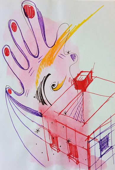 Marina Lomakina, 'Fantasy in Architecture', watercolour and makers, 2016