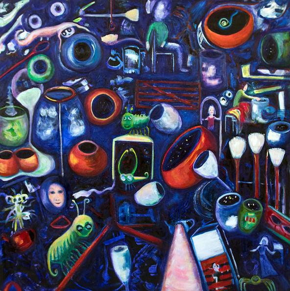 Susannah Paterson, 'Pot Bug', oil on birch panel, 2018