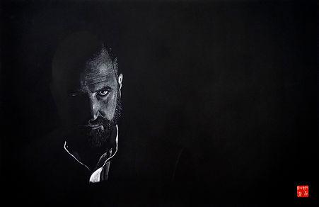 Virginie Senbel-Lynch | Into the Light | watercolour pencil on black paper | 73 x 48cm | 2017