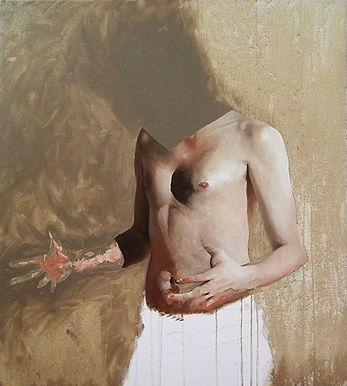 Rhys Knight   Self (body-world) 3   Oil on canvas   90 x 80cm   2017