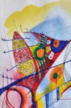 Marina Lomakina, 'Avant Garde', watercolour and makers, 2016