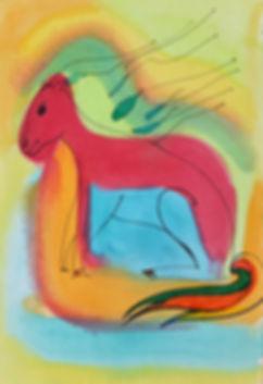 Marina Lomakina, 'Horses', watercolour and makers, 2016