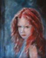 Julie Hollis | Little Miss Worrywart | acrylic on canvas | 50 x 40 x 2cm | 2017