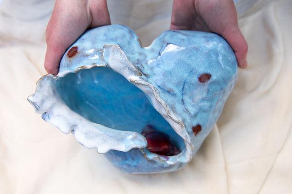 Susannah Paterson, 'Open Heart Sculpture', stoneware, 2018