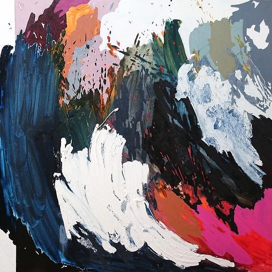 Jude Hotchkiss ~ Stormwash ~ oli and medium on canvas ~ 122 x 122 x4cm ~ 2017