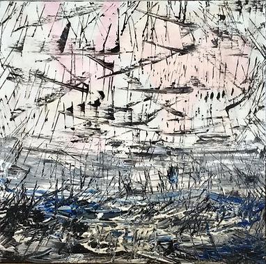 Greg Flynn | Always Remembered | acrylic on canvas | 40 x 40  x 3cm | 2017