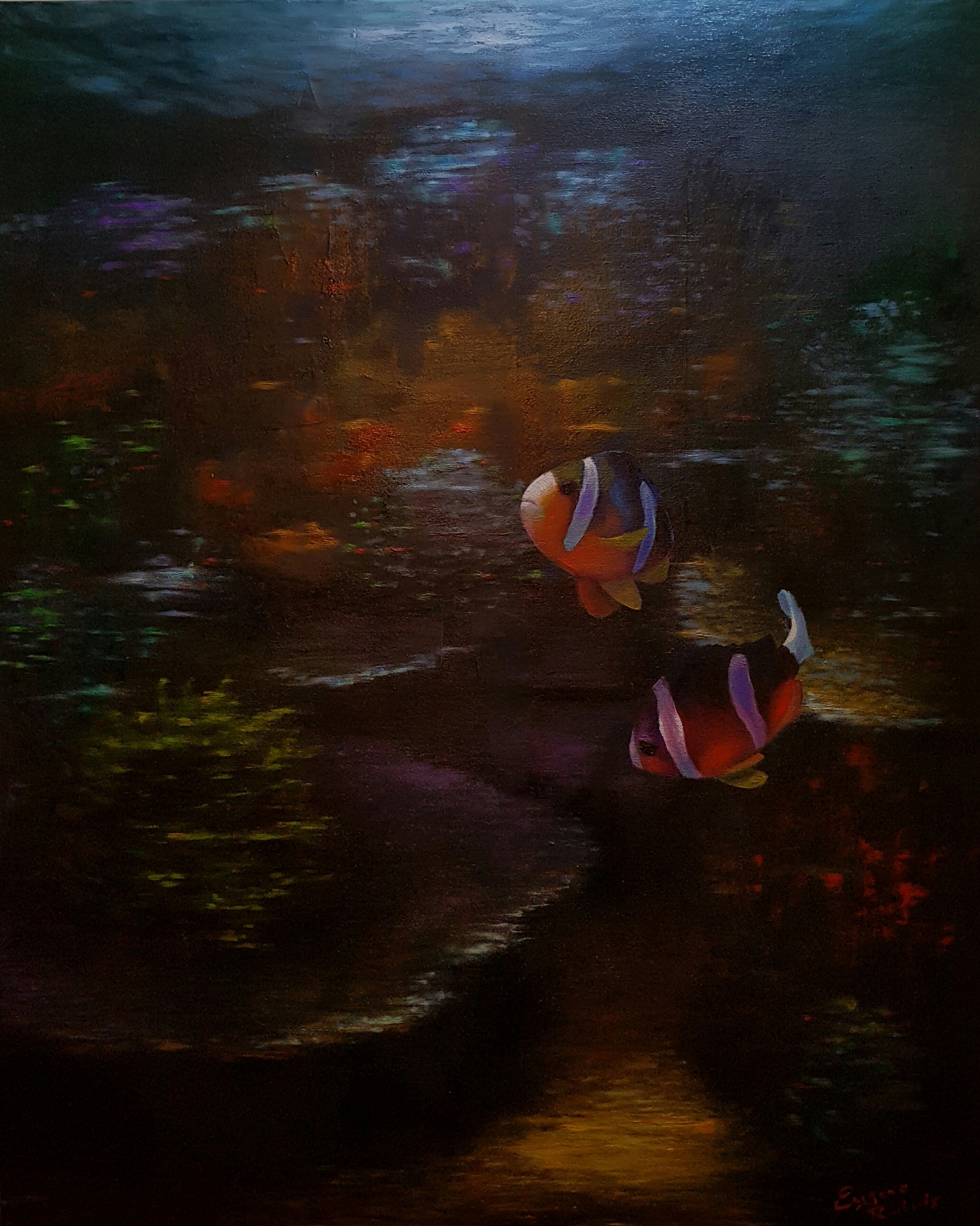 Clown Fish Person Concept Art