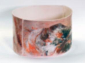 Sarah Tracton | Terrain | porcelain | 30 x 21cm | 2015