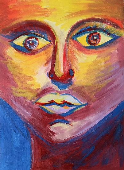 Marina Lomakina, 'Fear of Love', acrylic on canvas, 2016