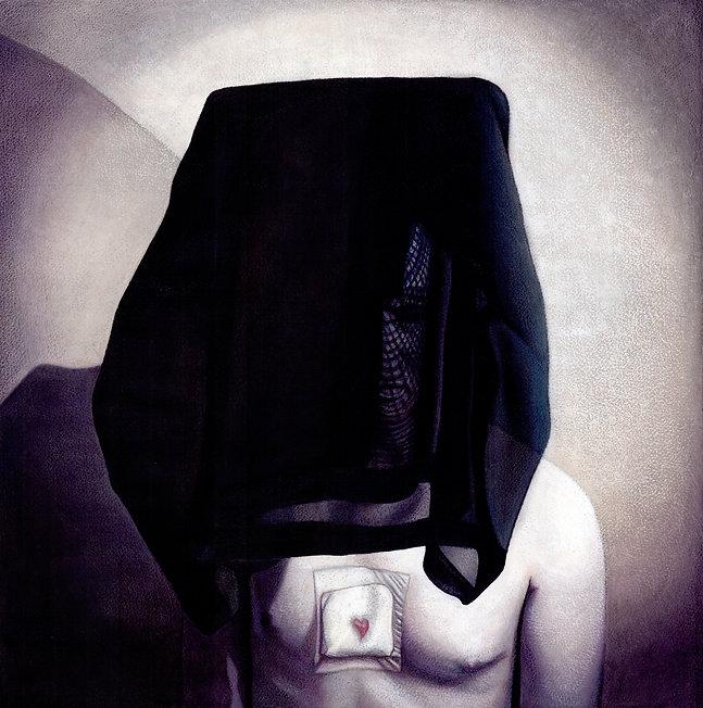 Tom Christophersen: Himeros, mixed media on watercolour paper, 51x 50cm, 2013