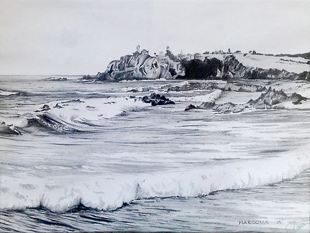 John Davies | Narooma | Pencil on Fine Art Paper | 30 x 20cm | 2015