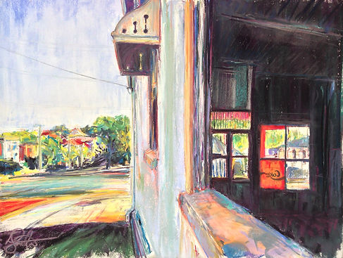 Kelly Southee | Morning Coke in Greenslopes | Soft Pastel on Sanded Card | 81 x 67cm | 2015