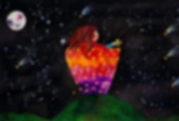 Latesha Houston, 'Cosmic Dust', watercolour on arches pape, 2018