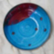 Susannah Paterson, 'Wheelthrown Blue & Red Platter, stoneware, 2018