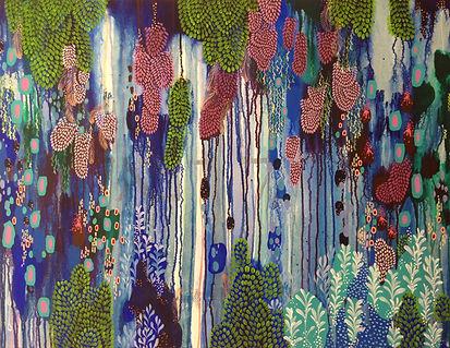 Leah Doeland | Healing Rain | Acrylic on canvas | 100 x 75cm | 2016
