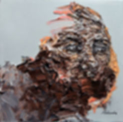 Rochelle Alahendra | Longing | oil on canvas | 30 x 30cm | 2017