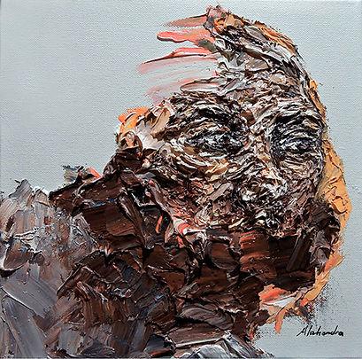 Rochelle Alahendra   Longing   oil on canvas   30 x 30cm   2017