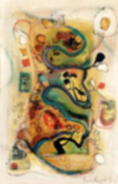 Ann Rayment | Lifeblood | Mixed media on canvas | 116 x 160cm | 2016