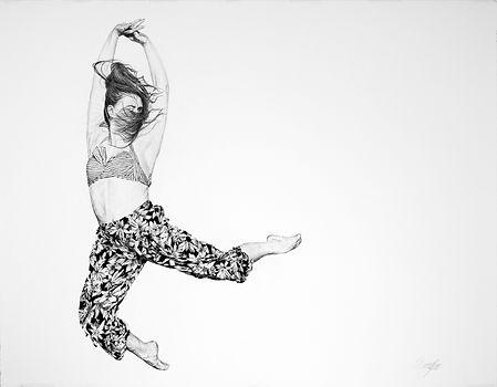 Daniel Sherington | Tranisition 4 | Ink on arches paper | 90 x 113cm | 2017