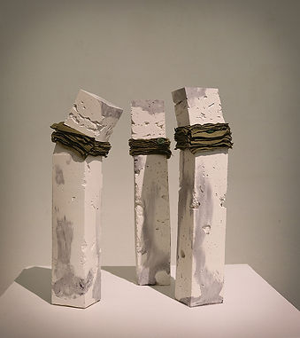 Veronica Andrus-Blaskievics | Association | Concrete & fabric | 20 x 5 x 5cm | 2016