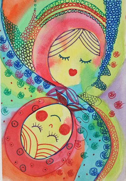 Marina Lomakina, 'Russian Winter', watercolour and makers, 2016