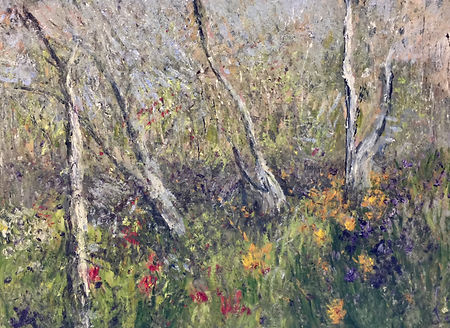 Lucila Zentner | Springflowers of Emkatdee | 77 x 114 | oil on canvas | 2016 | $6500