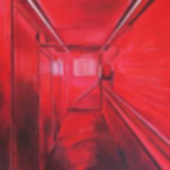 Samir Hamaiel | Red Room | acrylic on canvas | 51 x 51cm | 2017