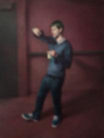Ken Goshen | Adaam the Photographer | oil on canvas | 101.6 x 76.2cm | 2016