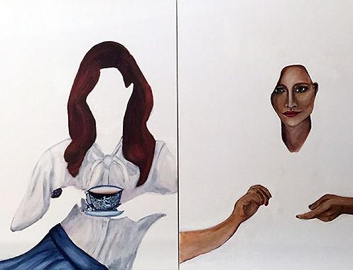 Sandra Cipriotti   High Tea, for Two   acrylic on canvas   70 x 90cm   2017