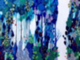 Leah Doeland | Awakening | acrylic on canvas | 101 x 76 x 3.5cm | 2017