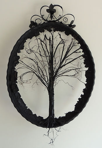 Anna Russell- Smith | Tree of Hope | Recycled tyres | 80 x 105 x 8cm | 2017