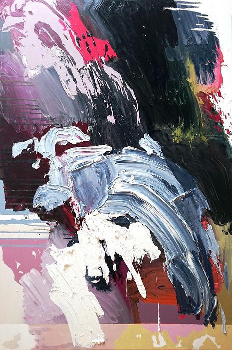 Jude Hotchkiss ~ Earthforce~ oli and medium on canvas ~ 150 x 101 x4cm ~ 2017