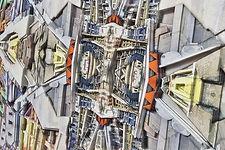 Carmel Louise | Constructional No.1, V1 in 3D | mixed media | 100 x 100cm | 2017