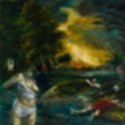 Amalea Manifis | Anamnesis | Oil on board | 90 x 90cm | 2016