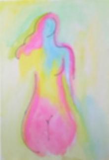 Marina Lomakina, 'Feminity', watercolour and makers, 2016