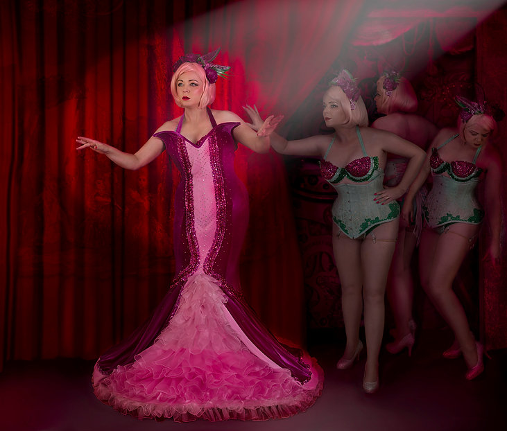 Daniel Kneebone | The Doyenne of Burlesque | archival print | 95 x 80cm | 2015