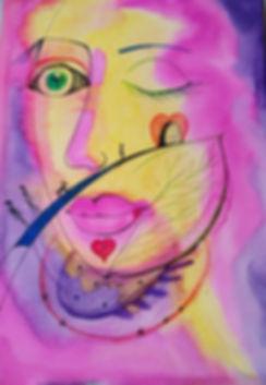 Marina Lomakina, 'A Road to Heavan', watercolour and makers, 2018