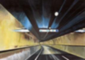 Samir Hamaiel | Tunnel | Digital print on canvas | 40 x 30cm | 2016