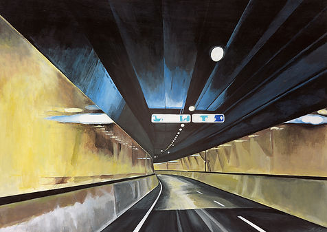 Samir Hamaiel | Tunnel | Digital print on canvas | 40 x 30cm | 2016