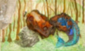 Roger Callen | Burnt Rock - the artist's remains | Mixed media | 60 x 97 c 11.5cm | 2016