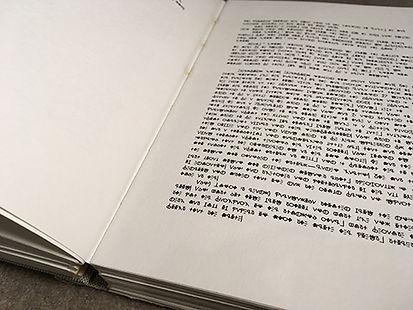 Sheilla Njoto   Script   printed book, manual binding   20 x 18.4 x 4cm   2017