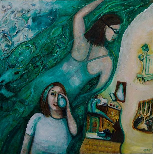 'I'm Swimming Along Just Fine Thankyou' by Australian artist Susannah Paterson